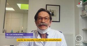 Centres Covid en Mayenne - Le président des Généralistes CSMF Luc Duquesnel sur Télématin