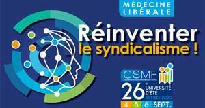Participez à la 26e université d'été de la CSMF !